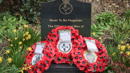 A short ceremony was attended by representatives of the Town Council and the Royal British Legion, to