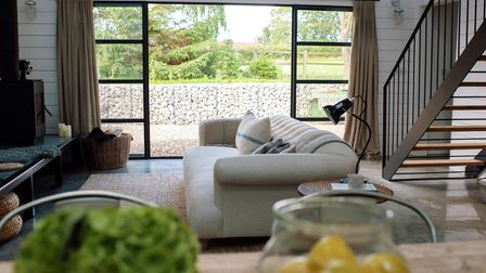 A linen sofa to lounge on a meadowo on your doorstep - The Grey Shed near Crayke