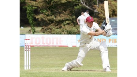 Matt Kearsley on his way to 69 not out from 62 deliveries