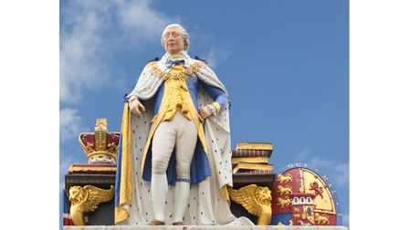 Statue of King George III on the seafront at Weymouth