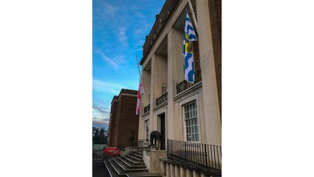 Herts County Council flew its flags at half-mast to mark the national day of reflection