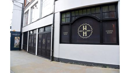 Signage for the new Honey + Harvey which is set to open in Queen Street, Ipswich