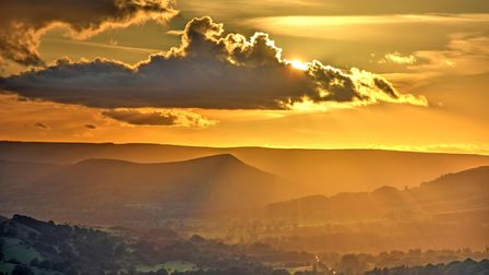 Surprise View, sunset over Hope Valley