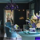 The newly refurbished Blue Lounge at The Grove hotel in Hertfordshire