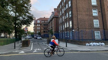 Traffic filter in Hackney Downs Low Traffic Neighbourhood. Picture: Hackney Council