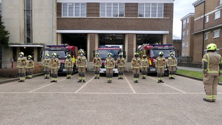 Wembley firefighters observe covid silence