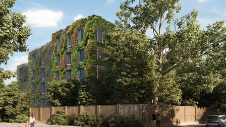 Developers are planning to install 'green walls' at the proposed new 84 West Heath Road apartment block.