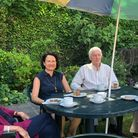 Catherine West MP at a previous garden party of Mary Feilding Guild