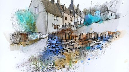Urban sketcher Ian Fennellypaints mostly outdoors