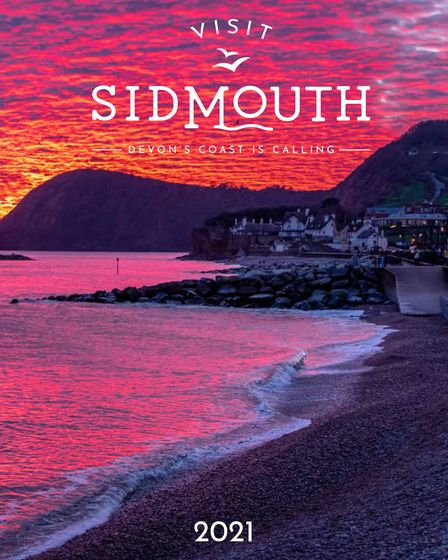 The front cover of the Visit Sidmouth 2021 brochure