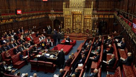 General view of the House of Lords in London as the European Withdrawal Agreement Bill is debated.