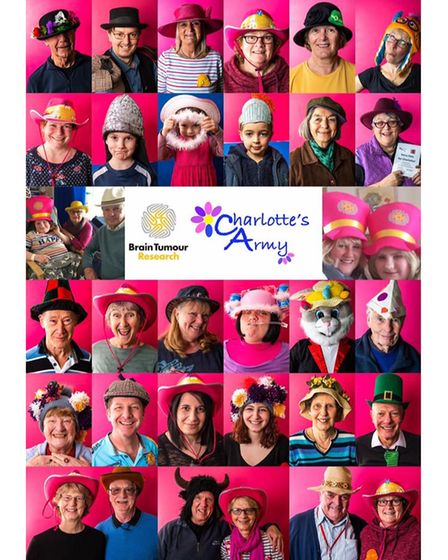 Some of the supporters for Charlotte's Army wearing their hats for Wear A Hat Day