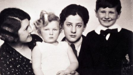 Greta Ungar and her sons including the author's father Tomas third from left