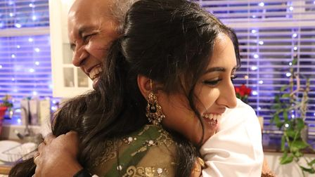 Arif with his neice Huma at her wedding July 2020