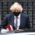 Prime Minister Boris Johnson leaves 10 Downing Street to attend Prime Minister's Questions at the Ho