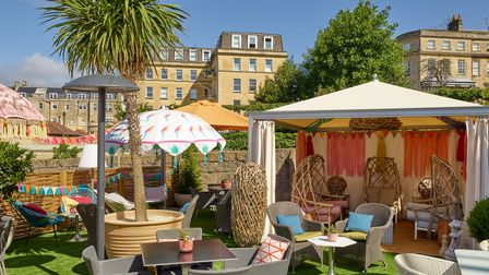 Take in the views over Bath Abbey at The Bird, Bath