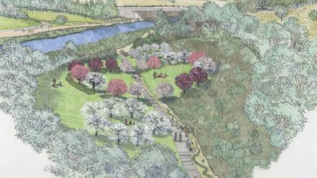 A visual of the London Blossom Garden