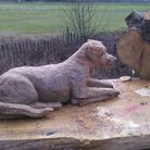 This wood-carved sculpture was one of the items stolen from Fairlop Waters Country Park on Saturday, March 21.