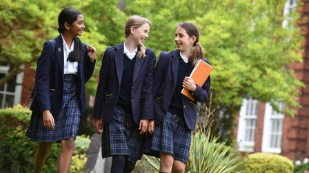 Students at Sir William Perkins's independent and all-girls school in Surrey