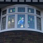 Houses along Piggottshill Lane in Harpenden are adorned with Easter windows as part of the street's Easter egg hunt