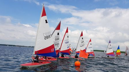 Grafham Water Sailing Club boats on the water
