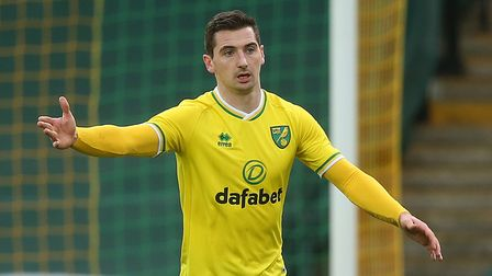 Kenny McLean of Norwich in action during the Sky Bet Championship match at Carrow Road, NorwichPic