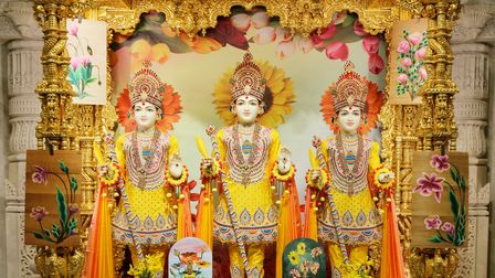 Sacred images at Neasden Temple