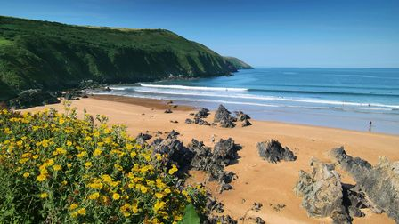 A view of Putsborough beach, North Devon