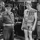 From left: John Laurie (behind), Arthur Lowe, Ian Lavender and Clive Dunn in a scene from Dad's Army