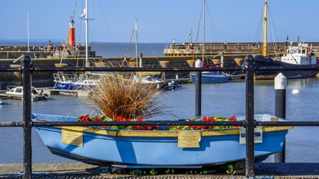 Watchet, UK - June 30, 2015: This is the harbour / port / marina at Watchet, one of the historic cin