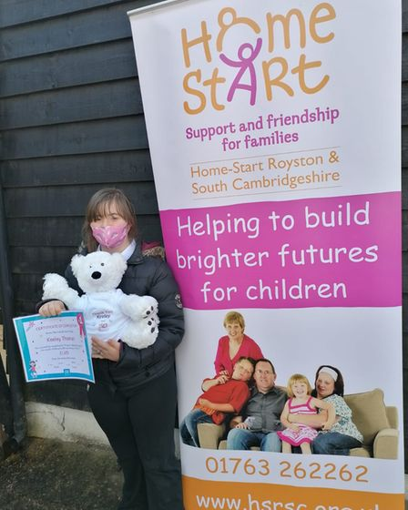 Keeley Thomas, 14, raised money for Home-Start Royston, Buntingford and South Cambs by doing 1,400 squats