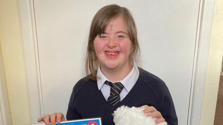 Keeley Thomas, 14, did 1,400 squats to raise money for Home-Start Royston, Buntingford and South Cambridgeshire