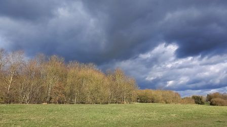Gill Butt took this photograph of rain clouds at Grafham Water.