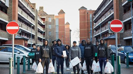 Hackney teenagers have been running a community shop and delivering food and hot meals to people on their estate.