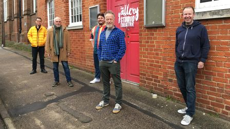 The Gallery Players steering group outside their new Gallery Studio Theatre