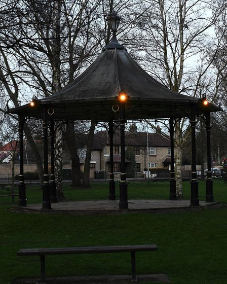 Bloomfield Park in Huntingdon was lit up on March 23