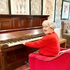 Melbourn Springs resident Rosina Archer with the new piano