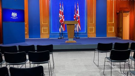 Downing Street's new White-House style media briefing room
