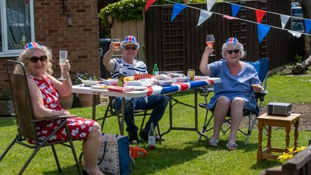 Residents from the Eatons on VE day last year.
