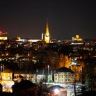 Norwich taken from Mousehold on a night before Earth Hour.