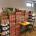 Some of the 1,118 Easter eggs all ready to be distributed.