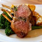 Rack of lamb with broccolini and roasted potatoes. More lamb images: http://robynm.smugmug.com/ph