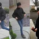 CCTV images of a man police would like to speak toin connection with attempted burglaries