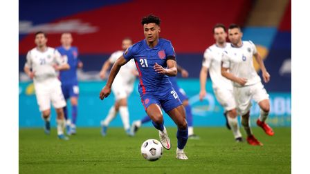 England's Ollie Watkins in action during the FIFA 2022 World Cup qualifying match at Wembley Stadium