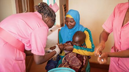 This clinic was funded by HSoA (Harpenden Spotlight on Africa ) and supports the local community in