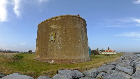 A Martello Tower at East Lane, Bawdsey