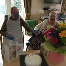 Peter visiting his wife Ann on her birthday at a Bupa Care Home.