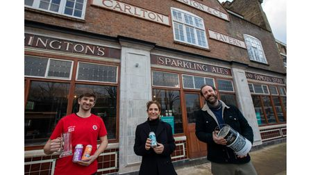 Carlton Tavern building is complete, and ready to open soon.Landlords Ben Martin (left) and Tom Ree