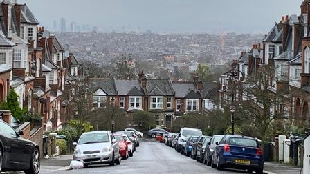 A view of central London from Muswell Hill