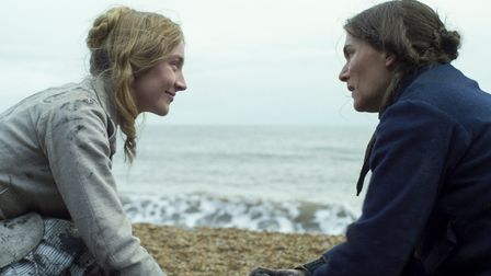 Saoirse Ronan and Kate Winslet filming Ammonite in Dorset